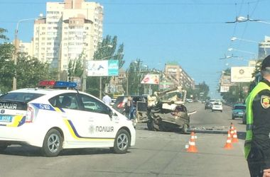 В Запорожье произошло жесткое ДТП