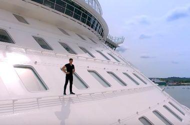 Динамическое путешествие по крупнейшему в мире круизному лайнеру