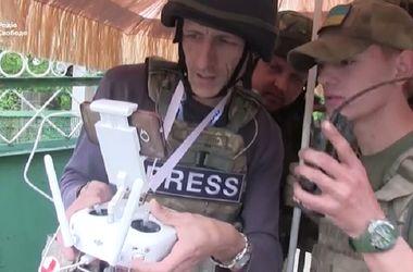 Украинский беспилотник снял позиции боевиков под Мариуполем