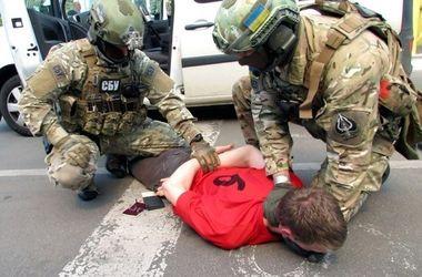 Появилось видео задержания СБУ француза-террориста