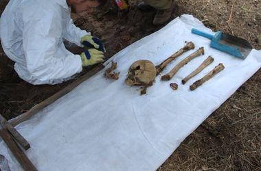 На Донбассе нашли кости украинских бойцов