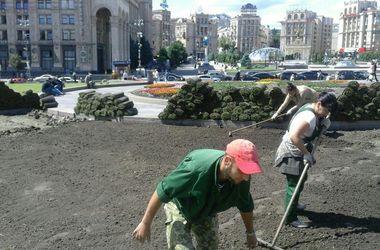 В Киеве на Крещатике появится газон