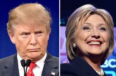 """Клинтон начала раздавать наклейки """"Республиканцы против Трампа"""""""