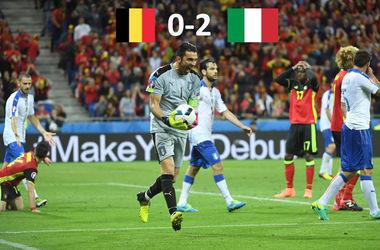Евро-2016: Бельгия - Италия 0:2. Лучшая по рейтингу сборная ЧЕ проиграла в первом матче
