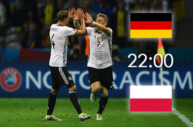 Евро-2016: Онлайн матча Германия - Польша (фото, видео)