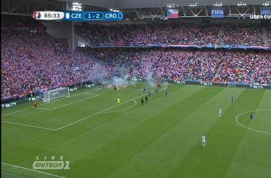 Матч Хорватия - Чехия остановлен из-за фанов