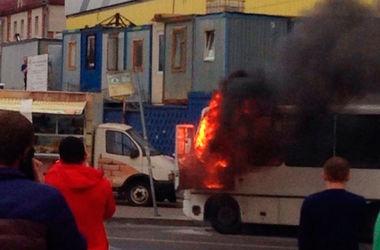 В России взорвалась маршрутка с пассажирами