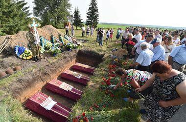 В Киевской области перезахоронили останки воинов Второй мировой войны
