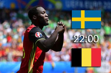 Евро-2016: онлайн матча Швеция - Бельгия (фото, видео)