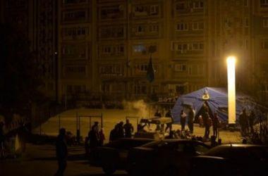 В Крыму начали устанавливать памятник отключения света