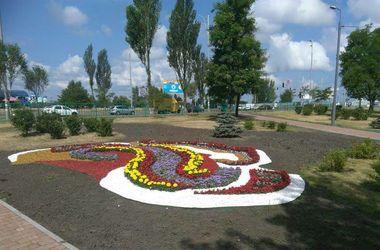 Орнамент из цветов: в Киеве украсили сквер на Драйзера