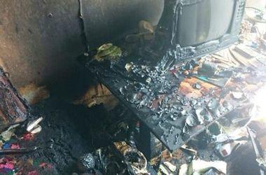 В киевской многоэтажке произошел пожар, сгорела квартира