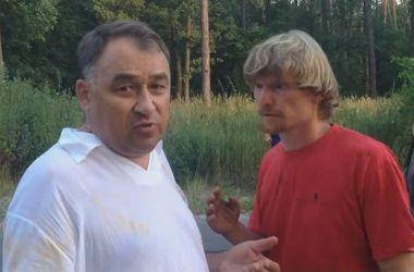 """Появилось видео, как пьяный чиновник """"Укрзализницы"""" пытался """"замять"""" ДТП"""