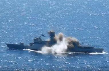 Видео-шок: как торпеда топит эсминец