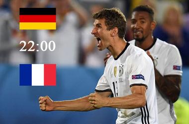 Евро-2016: онлайн матча Германия - Франция  (фото, видео)