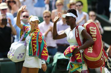 Венус Уильямс впервые проиграла в 1/2 Уимблдона, Кербер дебютирует в финале