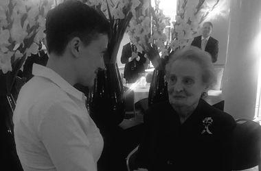 """Мадлен Олбрайт – о Савченко: """"Это честь встретить настоящую героиню"""""""