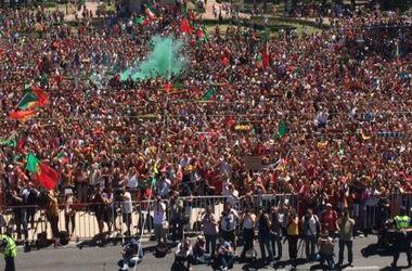 Евро-2016: Криштиану Роналду показал, как сборную Португалии встречали на родине