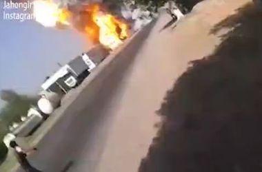 В Таджикистане взорвалась АЗС со сжиженным газом
