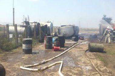 В Одесской области пылал бензовоз, работники получили ожоги