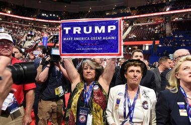 На республиканском съезде начинается голосование по кандидатуре Трампа