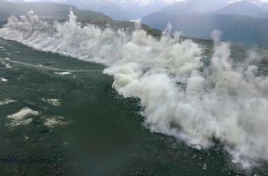Видеошок: сокрушительный взрыв в крупнейшем каменном карьере Норвегии