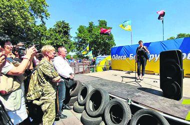 Все подробности визита Савченко в Одессу: антимэровский Майдан и яйца за мир с Донбассом