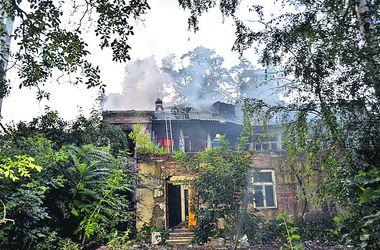В Одессе горел дом на Французском бульваре