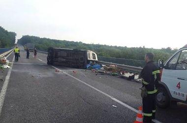 """На трассе """"Киев-Чоп"""" микроавтобус столкнулся с грузовиком: есть жертвы"""