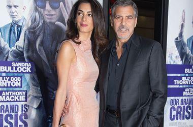 55-летний Джордж Клуни впервые станет отцом - СМИ - Звездные новости - 38-летняя Амаль Клуни находится на третьем месяце беременности