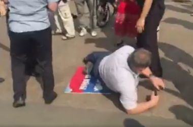 В Москве напали на участников пикета против войны в Украине