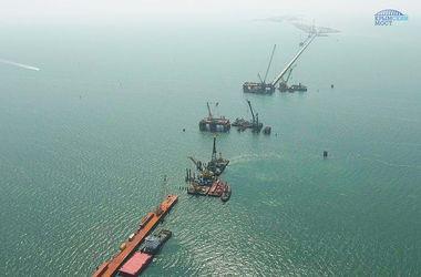 Россия показала новый этап строительства Керченского моста