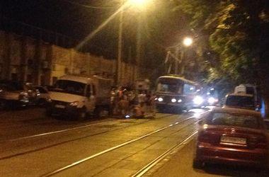 В Одессе ночью пришлось проводить сварочные работы на трамвайных рельсах