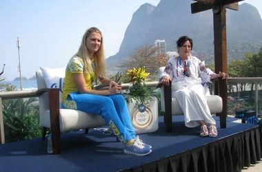 Ольга Харлан встретилась с мамой в Рио