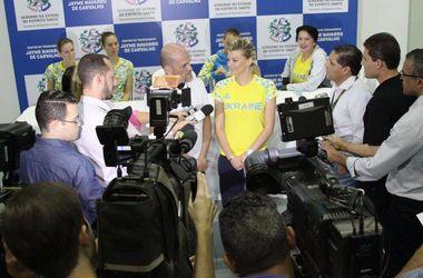 Мэр бразильского города устроил пресс-конференцию для украинских гимнасток