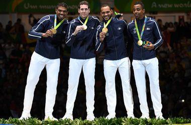 Сборная Франции стала олимпийским чемпионом по фехтованию на шпагах