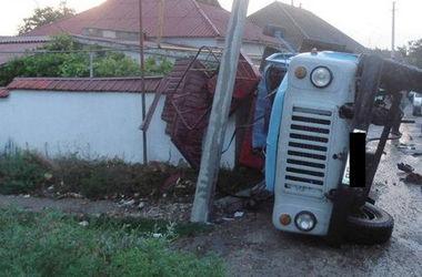"""ДТП в Вознесенске: грузовик занесло и он протаранил """"ГАЗ"""""""""""