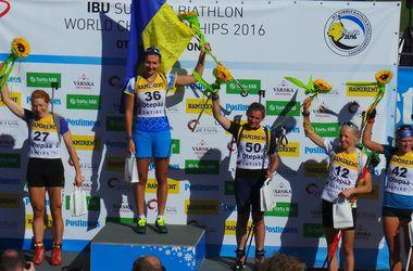 Елена Пидгрушная стала чемпионкой мира по биатлону