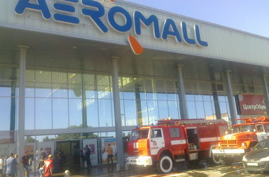 Под Киевом горел торговый центр