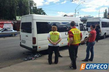 В Киеве водитель маршрутки насмерть задавил пешехода