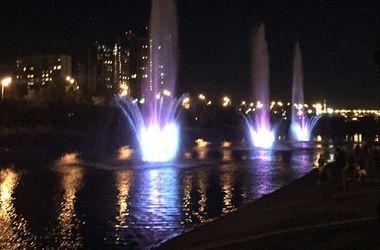 Как выглядят новые фонтаны на Русановке