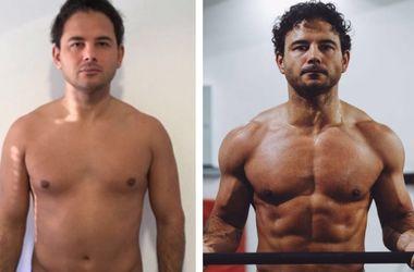 12 недель результата: американец показал пример толстякам