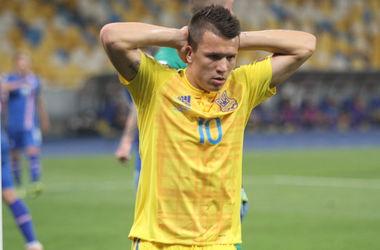 Сборная Украины не сумела выиграть в дебютном матче Андрея Шевченко