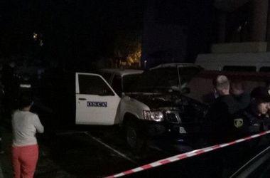 В Ивано-Франковске сожгли служебный автомобиль ОБСЕ