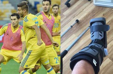 У футболиста сборной Украины Владлена Юрченко нашли трещину в кости