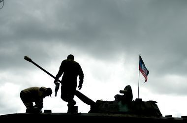 На Донбасс вторглась колонна военной техники из РФ