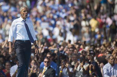 Обама провел зарядку для сторонников Демпартии на предвыборном митинге