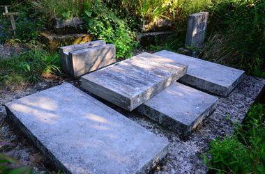 В Запорожской области дети надругались над могилами на кладбище