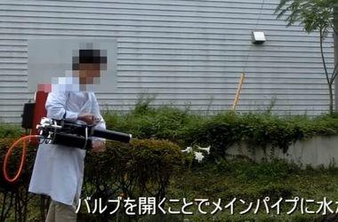 Японец смастерил смертоносную водяную пушку
