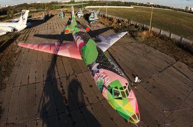 Украинский художник разрисовал самолет для авиационного фестиваля